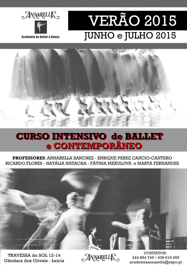 CARTAZ  CURSO INTESIVO DE BALLET E CONTEMPORÂNEO  (VERÃO 2015)
