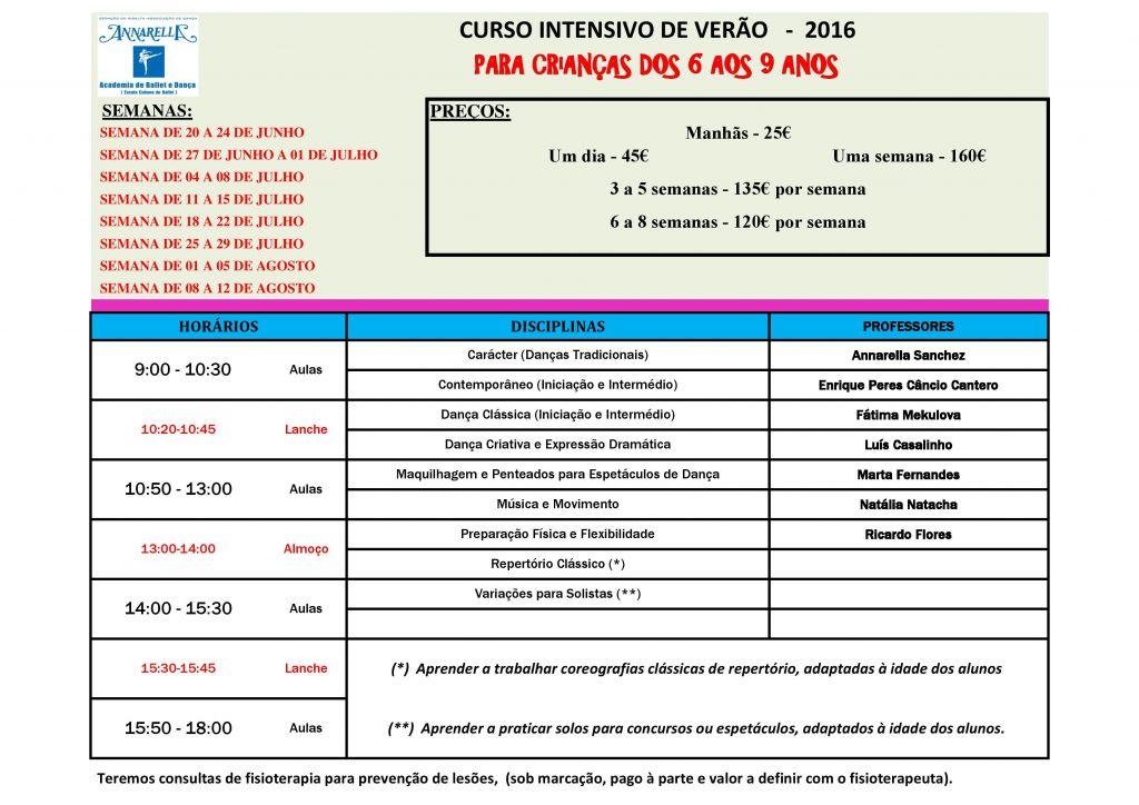 CURSO INTENSIVO DE VERÃO PARA CRIANÇAS DOS 6 AOS 9 ANOS - 2016 JPEG